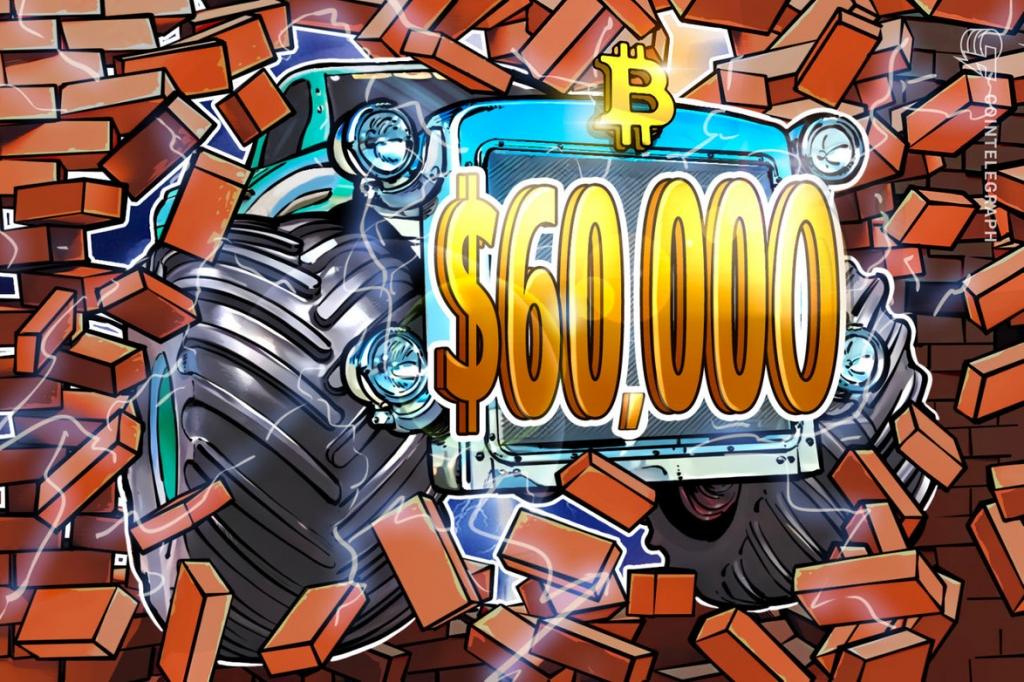 Cena bitcoinu dosiahne 60 000 dolárov.